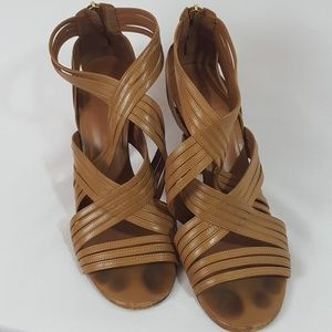 Tory Burch beautiful brown strappy heels size 11